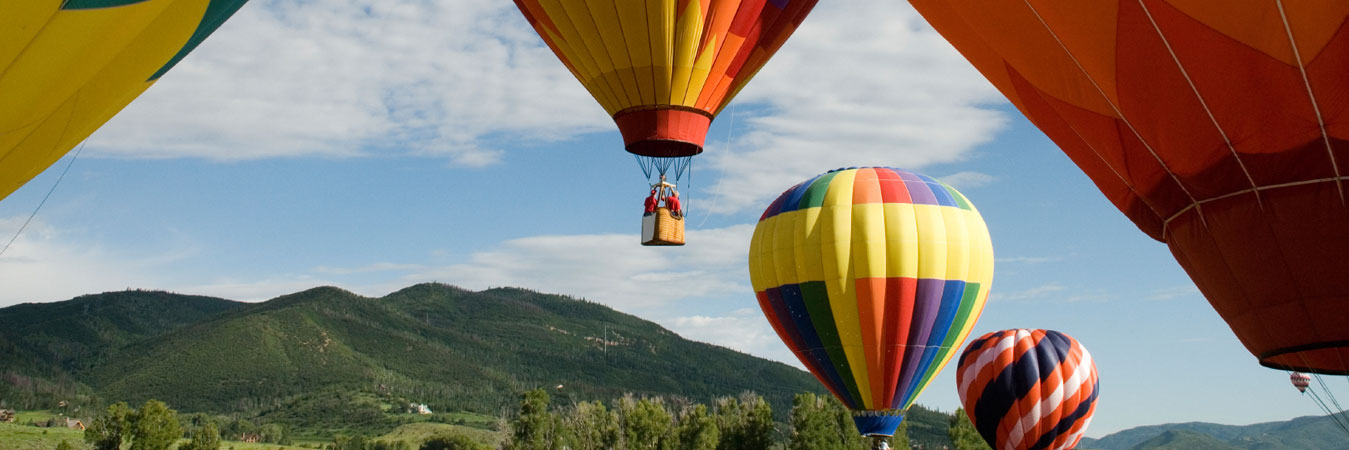 Hot air balloons in Steamboat Springs, Colorado