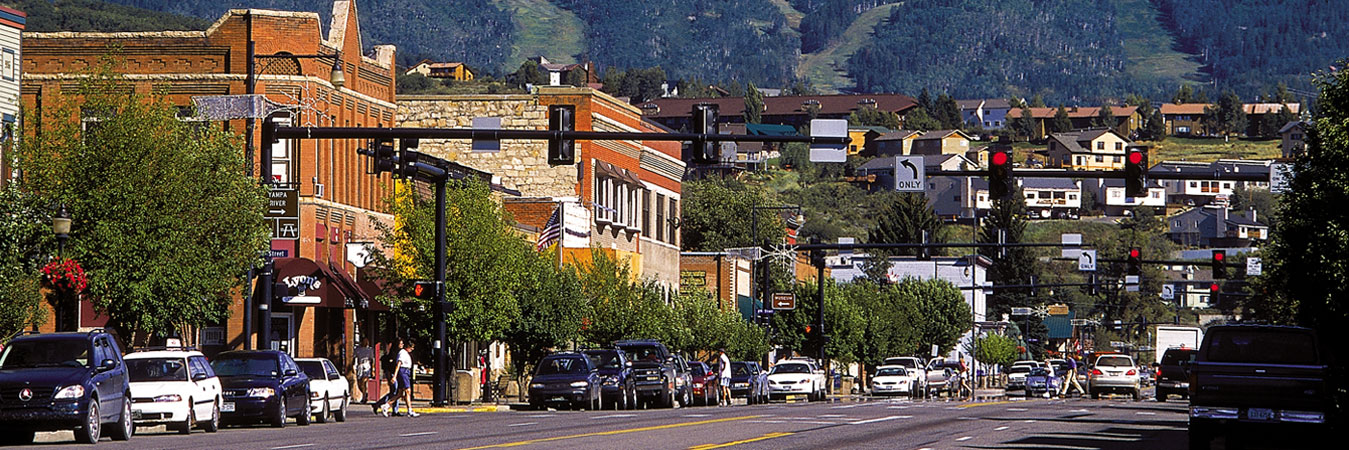 Main Street in Steamboat Springs, Colorado